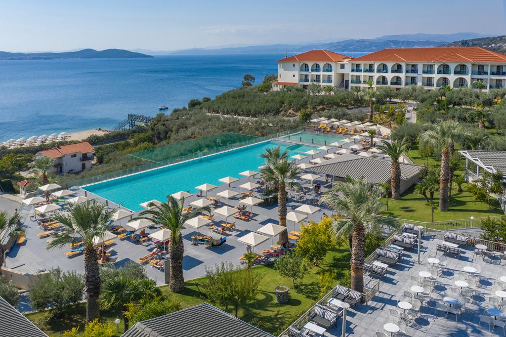 Grcka hoteli letovanje, Halkidiki, Uranopols,Akrathos, panorama