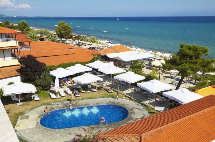 Grcka hoteli letovanje, Halkidiki,  Hanioti Grand Hotel ,bazen i plaža