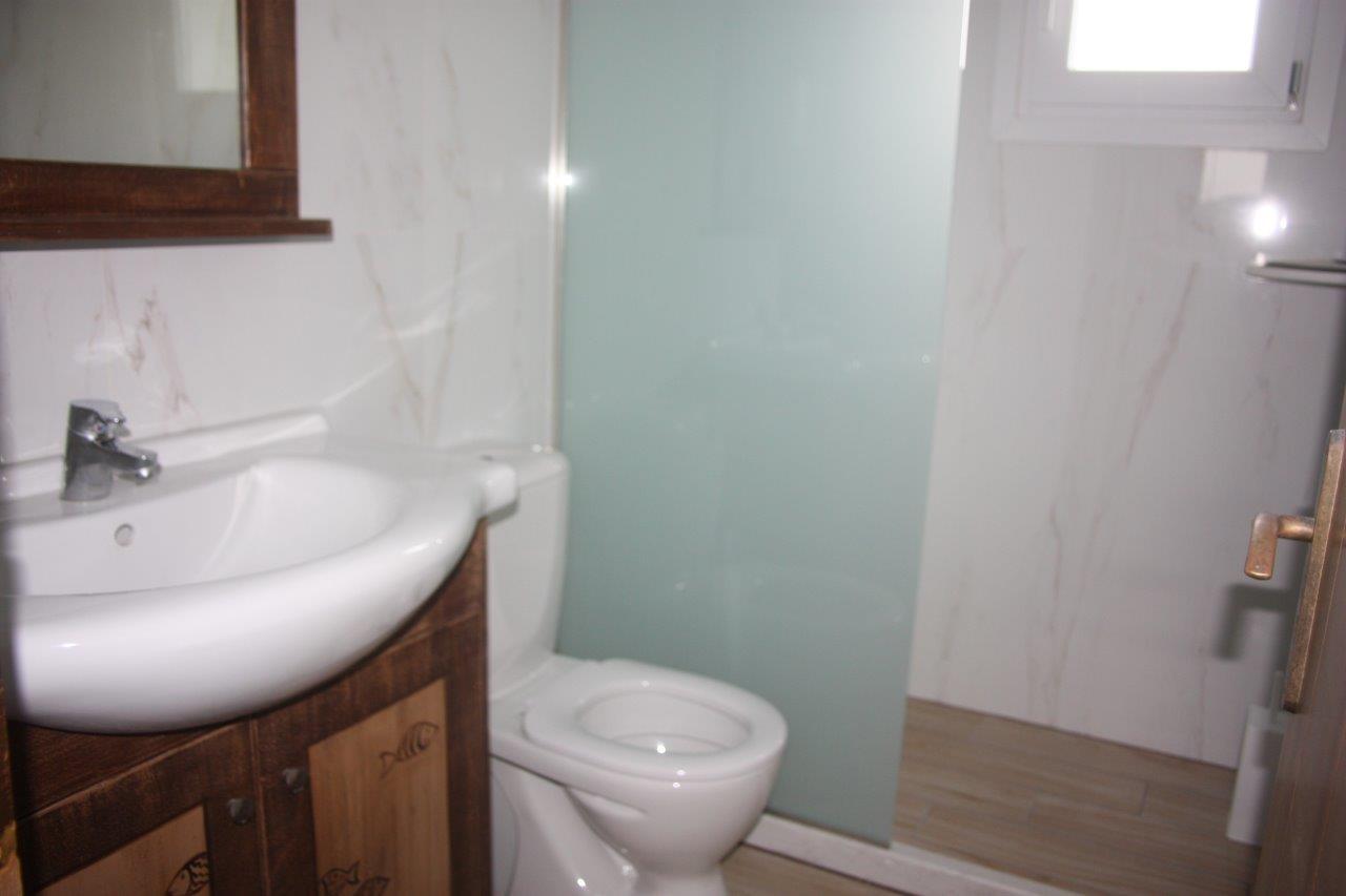Grcka apartmani letovanje, Vrahos,  Argo, izgled kupatila