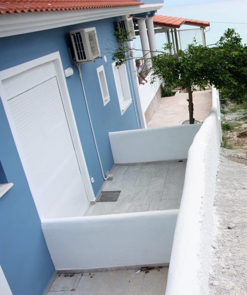 Grcka apartmani letovanje, Vrahos,  Argo, pogled terasa