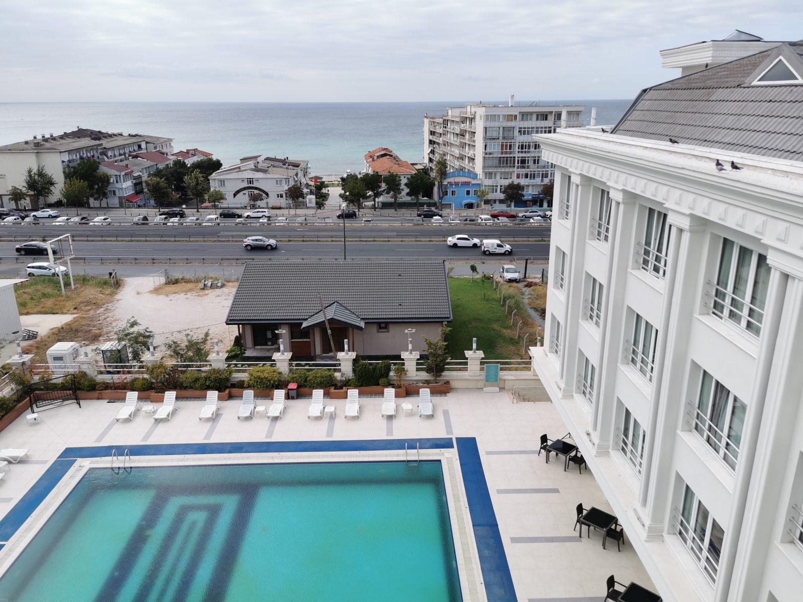 Letovanje Turska avionom, Kumburgaz, hotel Mercia, pogled na more iz hotela