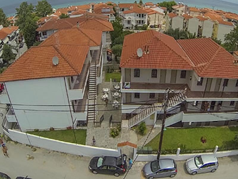 Grcka apartmani letovanje, Polihrono Halkidiki, Green Gardens, panoramski snimak (pre renoviranja)