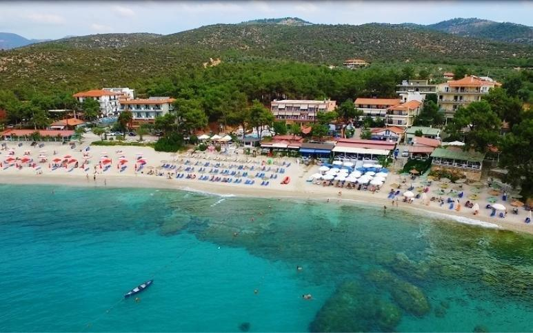 Grcka apartmani letovanje, Pefkari, Tasos, Pefkari Bay, panorama