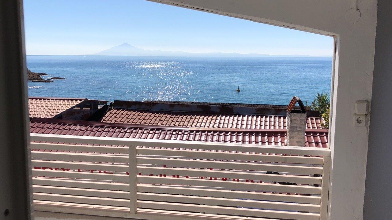 Grcka apartmani letovanje, Pefkari, Tasos, Pefkari Bay, balkon pogled more S4SV