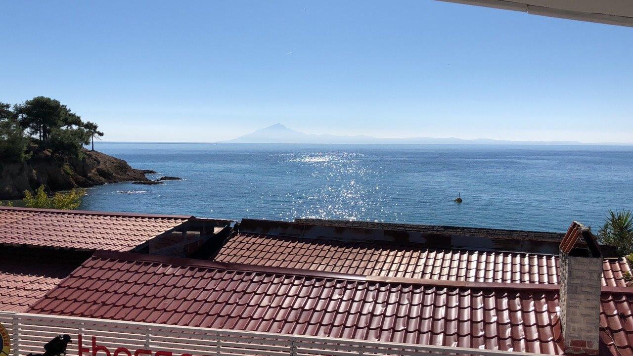 Grcka apartmani letovanje, Pefkari, Tasos, Pefkari Bay, terasa pogled na more S4