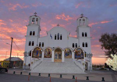 Grcka apartmani letovanje, Paralia, Exarchos, crkva