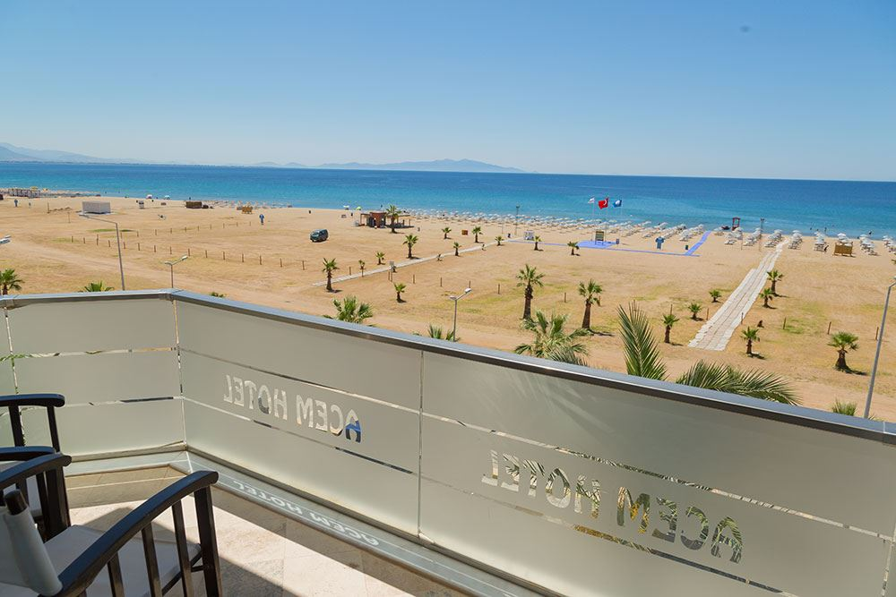 Letovanje Turska autobusom, Sarimsakli, Hotel Acem,pogled na plažu