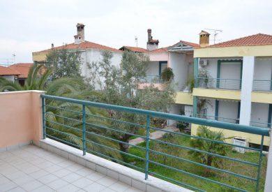 Grcka apartmani letovanje, Pefkohori, Halkidiki, Adonis, pogled sa terase