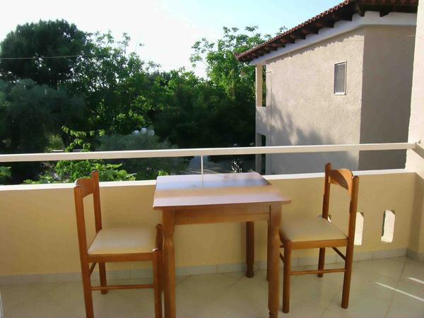 Grcka hoteli letovanje, Tasos, Skala Rahoni, Hotel Filippos, pogled sa terase