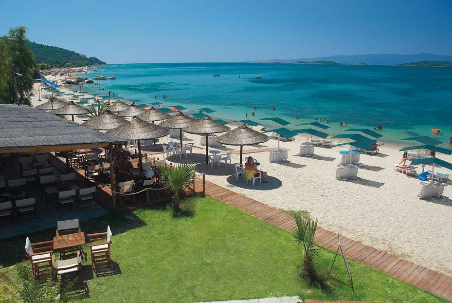 Grcka hoteli letovanje, Halkidiki, Uranopolis,hotel Akti Ouranopoli,plaža