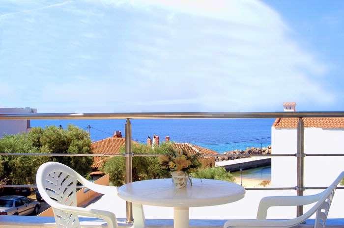 Grcka hoteli letovanje, Halkidiki, Mola Kaliva,Loutra Beach,pogled sa terase