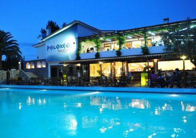 Grcka hoteli letovanje, Halkidiki, Psakudia,hotel Philoxenia,eksterijer