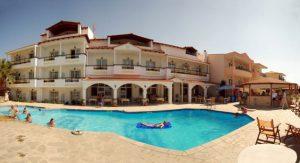 Grcka hoteli letovanje, Tasos, Skala Rahoni, Hotel Rachoni Bay-Resort, pogled na hotel