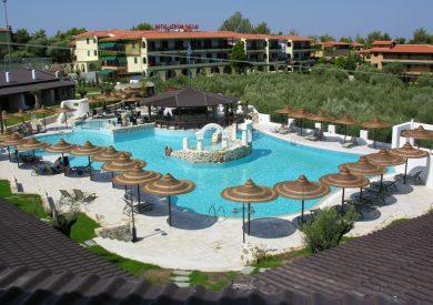 Grcka hoteli letovanje, Halkidiki, Elia Beach,Athena Pallas village,eksterijer