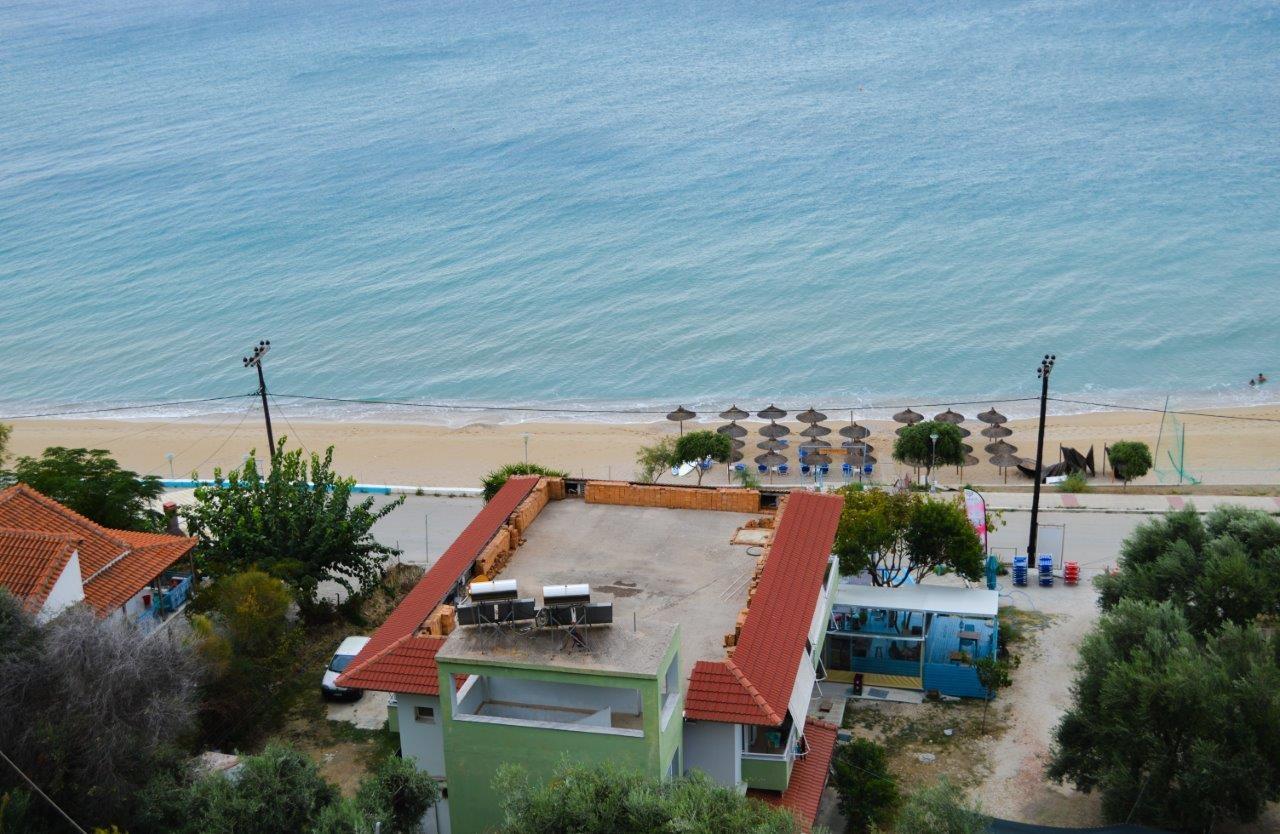 Grcka apartmani letovanje,Vrahos, Kyma, pogled na plažu
