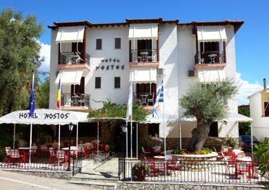 Grcka hoteli letovanje, Lefkada, Perigiali, Hotel Nostos, eksterijer