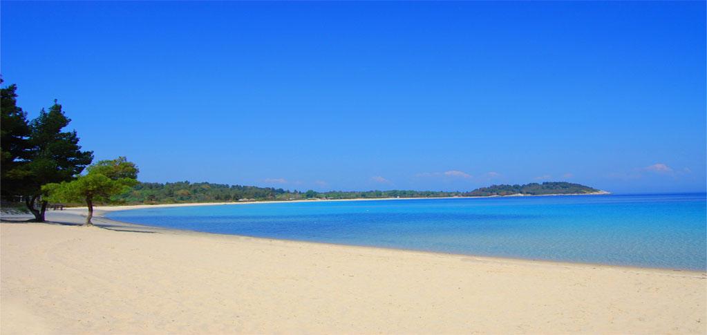 Grcka hoteli letovanje, Paliouri,Halkidiki,Chrousso Village,pogled na plažu