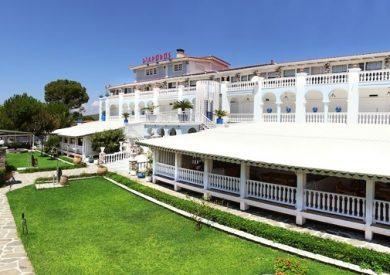 Grcka hoteli letovanje, Halkidiki, Vurvuru,hotel Diaporos,eksterijer