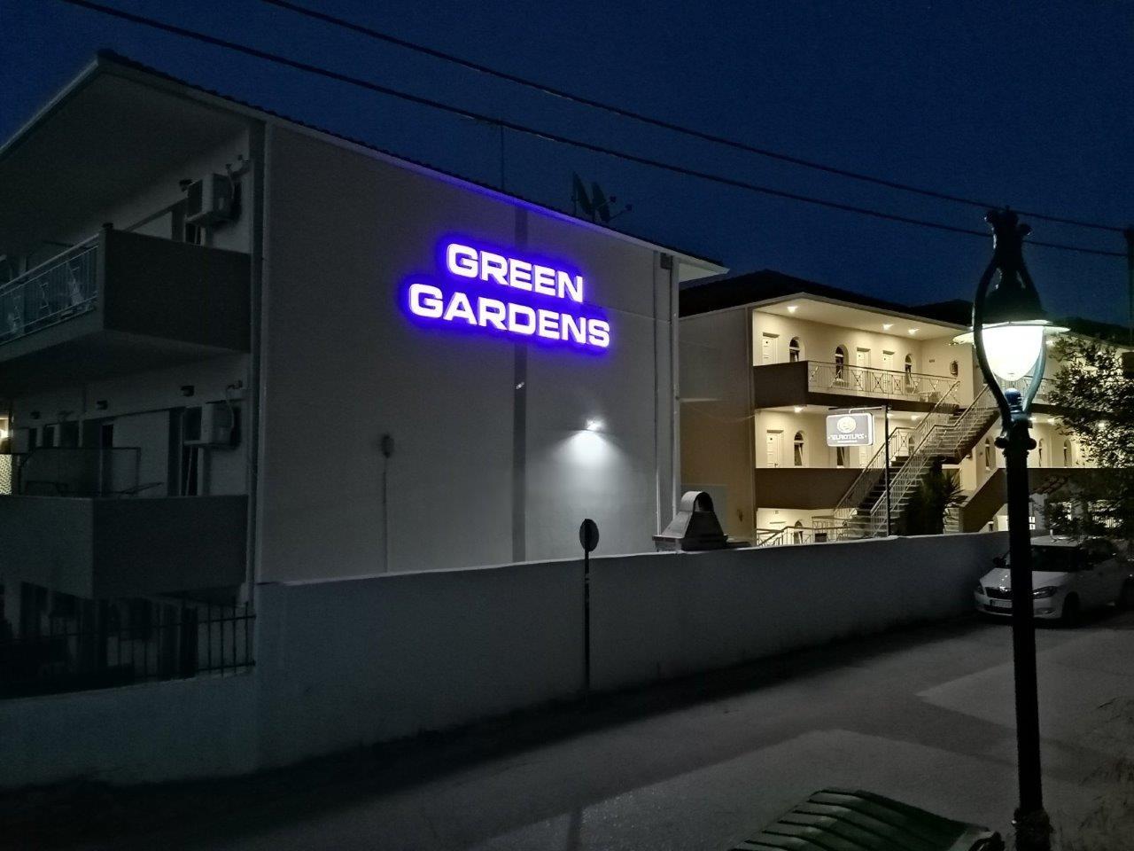 Grcka apartmani letovanje, Polihrono Halkidiki, Green Gardens, kuća A i B sa ugla