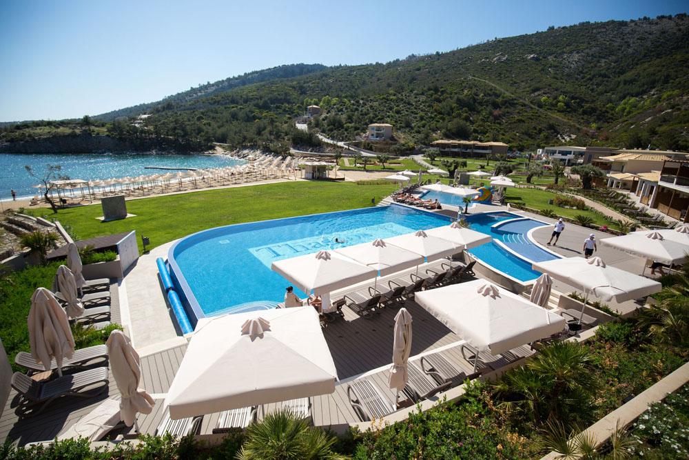 Grcka hoteli letovanje, Tasos, Agios Ioannis, Hotel Thassos Grand Resort, bazen na otvorenom