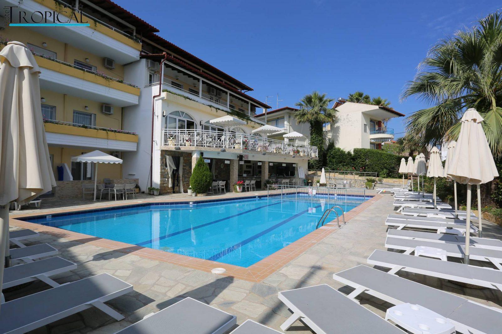 Grcka hoteli letovanje, Halkidiki, Hanioti,Tropical,bazen