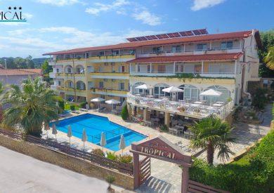 Grcka hoteli letovanje, Halkidiki, Hanioti,Tropical,eksterijer