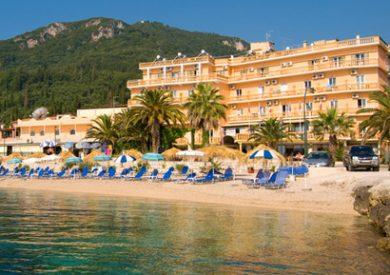 Grcka hoteli letovanje, Krf, Benitses, Hotel Potamaki Beach, eksterijer