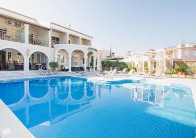 Grcka hoteli letovanje, Krf, Guvia, Hotel Across Opera Blue ex Omiros, bazen