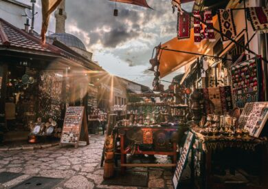 Sarajevo, Baš čaršija, putovanje Bosna