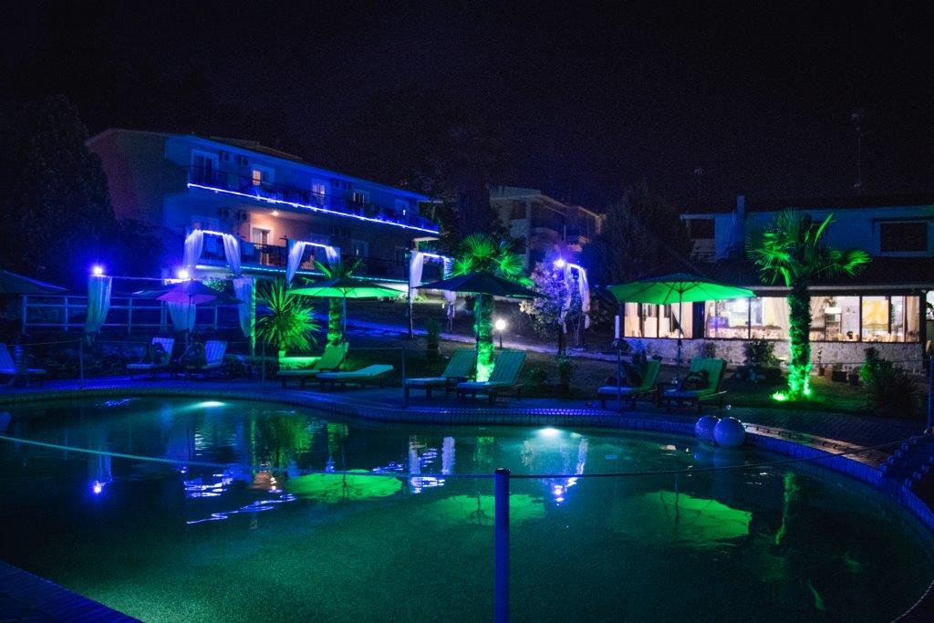 Grcka hoteli letovanje, Halkidiki, Siviri,Jenny,noćna panorama