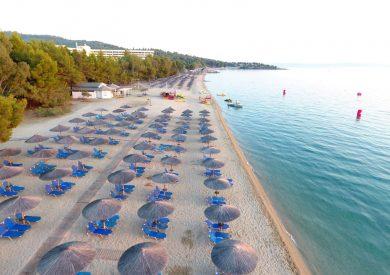 Grcka hoteli leto, Halkidiki, Neos Marmaras, Porto Carras, plaža