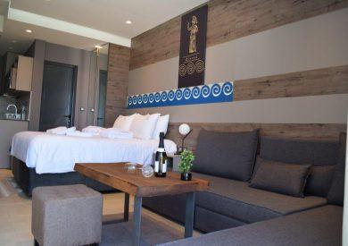 Grcka hoteli letovanje, Halkidiki, Nea Mudania,Katrin Luxury studios,izgled porodične sobe u vili