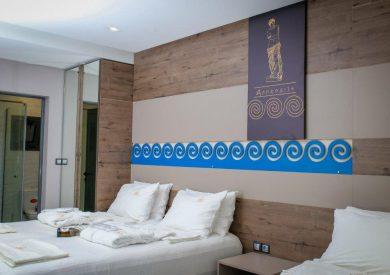 Grcka hoteli letovanje, Halkidiki, Nea Mudania,Katrin Luxury studios,panorama porodične sobe
