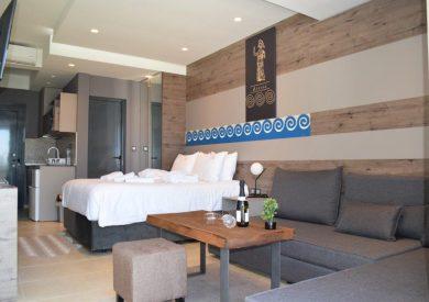Grcka hoteli letovanje, Halkidiki, Nea Mudania,Katrin Luxury studios,porodična soba