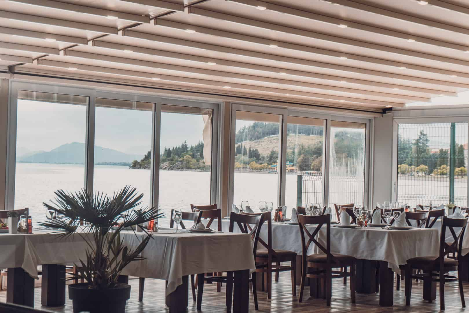 Putovanje Ohrid, evropski gradovi, hotel Aqualina, pogled iz restorana
