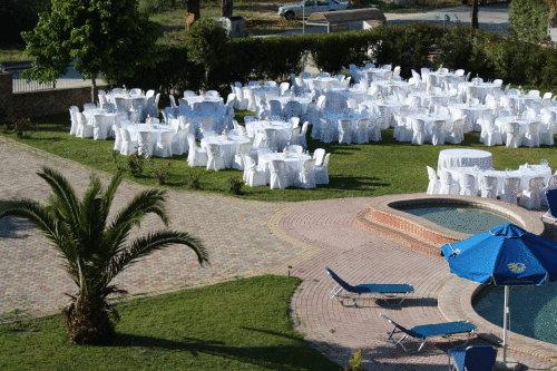 Grcka hoteli letovanje, Halkidiki, Siviri,Jenny,restoran u bašti