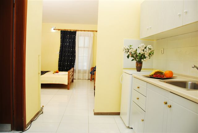 Grcka hoteli letovanje, Halkidiki, Siviri,Jenny,deo kihinje i sobe