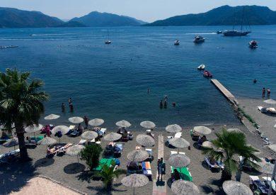 Letovanje Turska autobusom, Marmaris,Hotel Amos Marmaris plaža