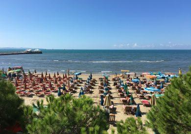 Leto Drač Albanija, letovanje Drac, široka peščana plaža 1