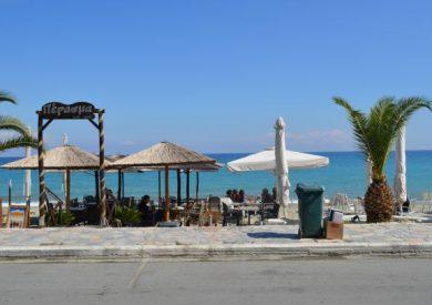 Letovanje Leptokaria, apartmani Leptokarija, šetalište pored plaže
