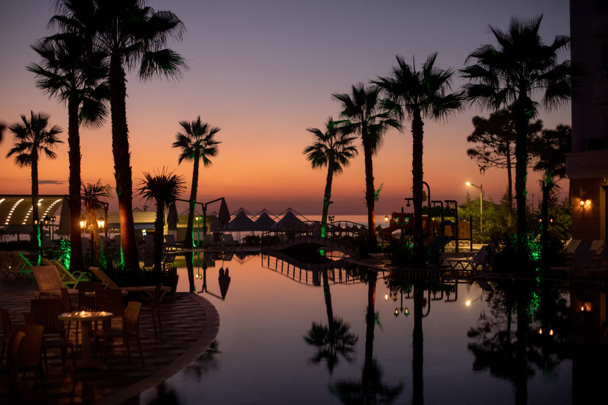 Letovanje Albanija autobusom, Drač, Hotel Fafa Premium, noćna panorama