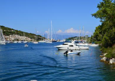 Paksos - Gaios - marina, jonska obala apartmani, leto Grčka