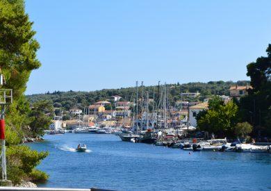 Paksos - Gaios - marina u zalivu, jonska obala apartmani, leto Grčka