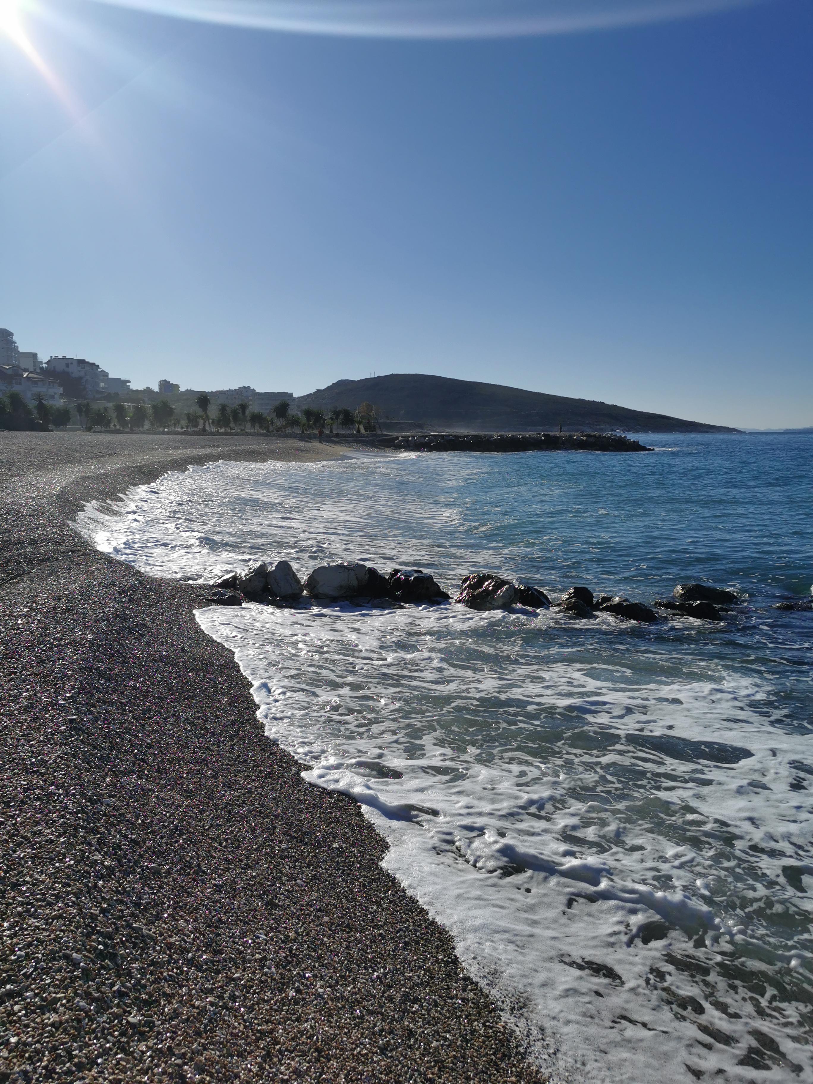 Letovanje Albanija hoteli, Saranda, autobus, Hotel Perla,izgled plaže