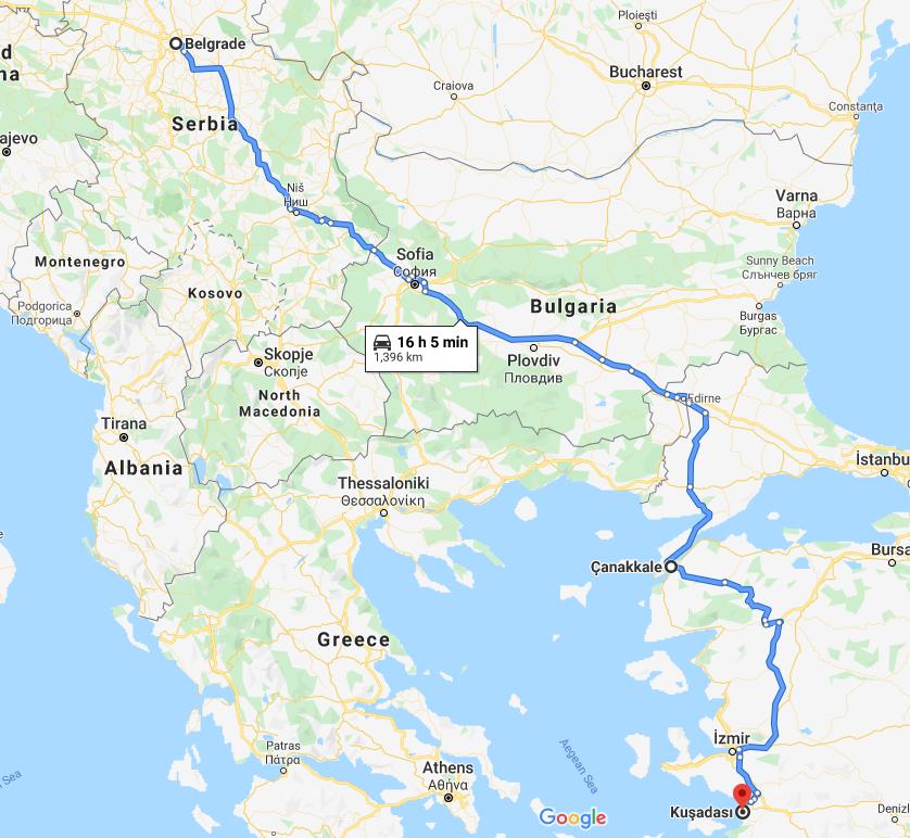 Turska (Sarimsakli i Kušadasi) Put do Turske preko Bugarske