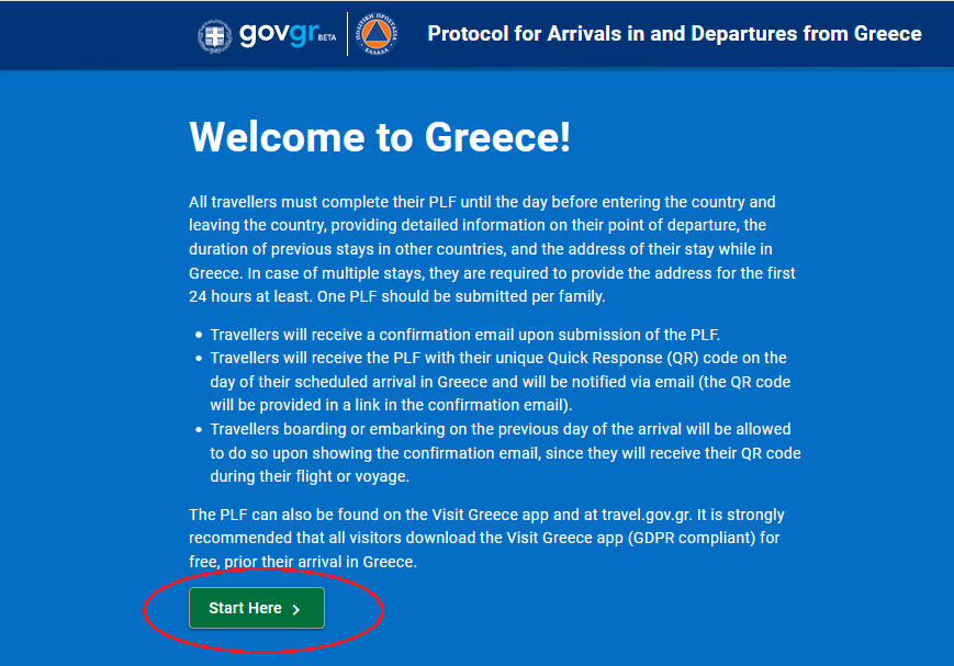 Uputstvo za popunjavanje PLF obrasca - obrazac grcka