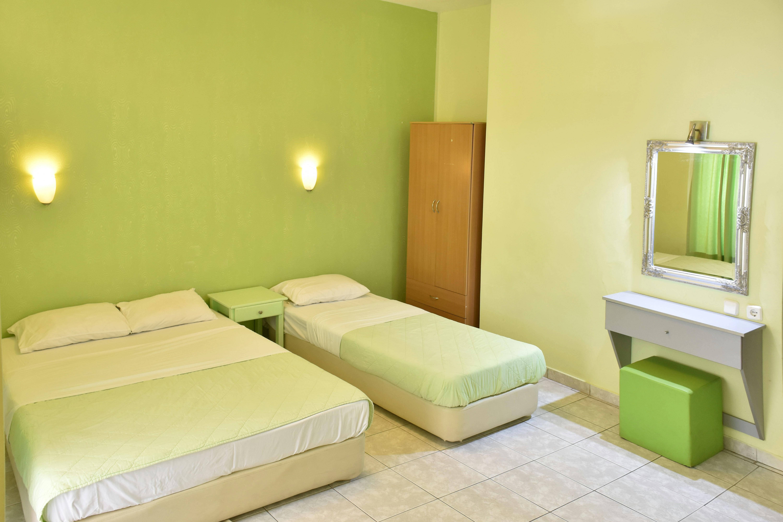 Grcka hoteli letovanje, Paralija, Erato, izgled spavaće sobe