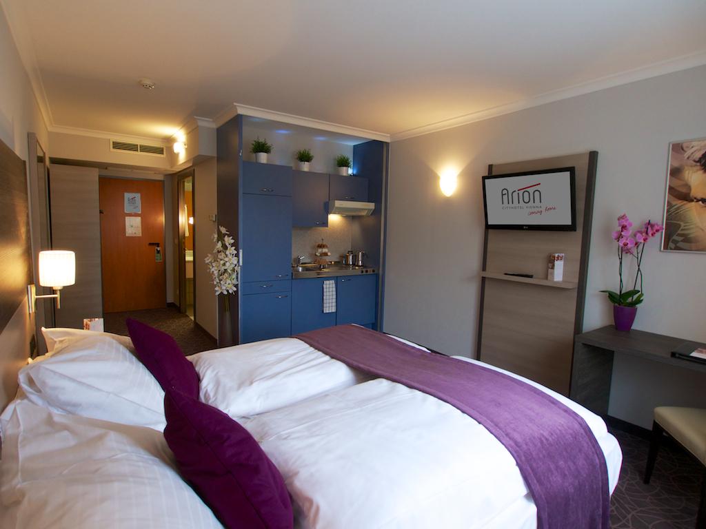 Putovanje Beč, evropski gradovi, hotel Arion city,izgled sobe u hotelu