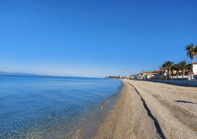 Polihrono, leto grcka halikidiki apartmani, plaža