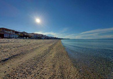 Polihrono, leto grcka halikidiki apartmani, plaža zalazak sunca